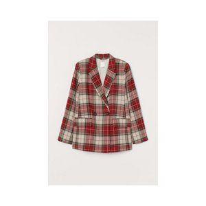 Womens Plaid H&M Blazer